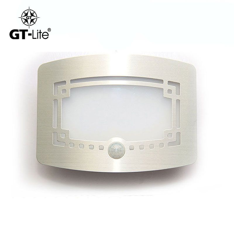 GT-lite Wireless Infrared Sensor Motion Wall LED Night Light New Battery Powered Porch Night Light Motion Sensor Light gtb103