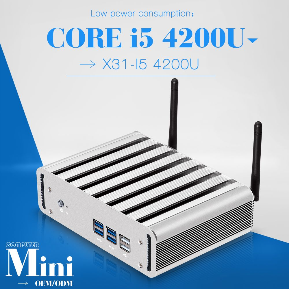 Low price and best quality core i5 4200u or more mini pc for x31-i5 terminal embedded pc host pc support outdoor printer