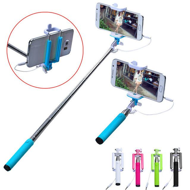 Cheap Selfie Stick Handheld Extendable Self Portrait Tripod Monopod Selfie Stick For iPhone Android Phone Xiaomi Smartphone