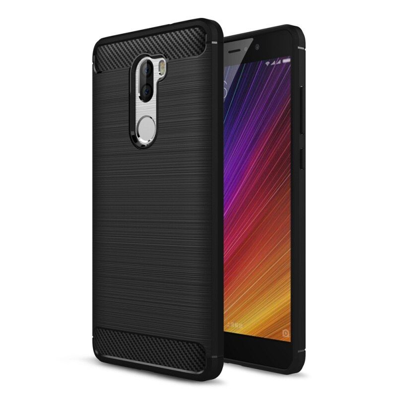 Case for Xiaomi Mi 5s Plus Mobile Phone Bag Carbon Fibre Brushed TPU Smart Phone Cases for Xiomi Mi 5 s Plus Cover Shell