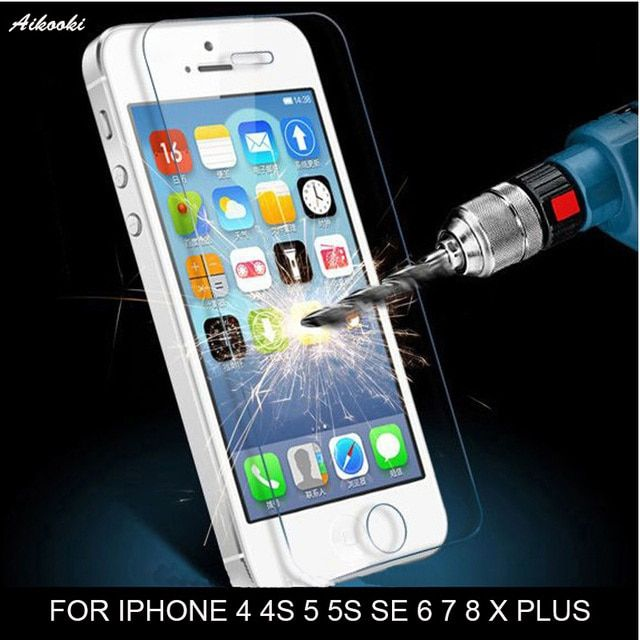 glass on for iphone 5s 6 7 x Tempered Glass 5s screen Film 9H protection glass Film for iphone5s 6S Tempered Glass protective