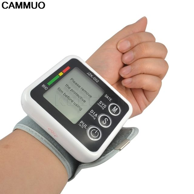 Health Care Germany Chip Auto Wrist Digital Blood Pressure Monitor Tonometer Meter Sphygmomanometer for Measuring And Pulse Rate