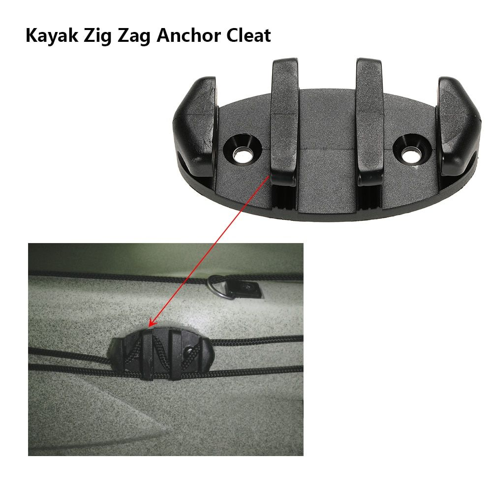 Deck Marine Fishing Boat Black Zig Zag Anchor Cleat Boat Canoes  for Kayak Canoe