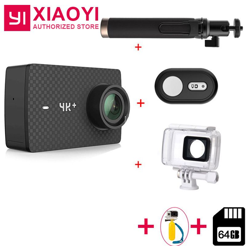 "Add Free 64 GB SD Card For Xiaomi YI 4K Plus Action Camera Ambarella H2 4K/60fps 12MP 155 Degree 2.19"" RAW YI 4K+Sports Camera"