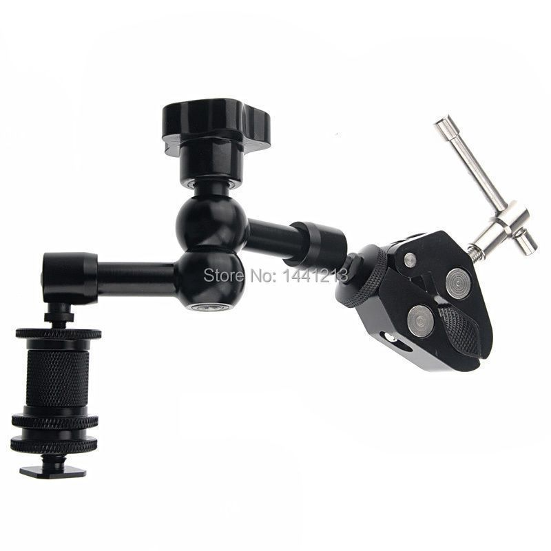 2in1 movie kit metal flexible 7 inch magic arm + super clamp suitable for DSLR rig camera camcorder lcd monitor led flash light