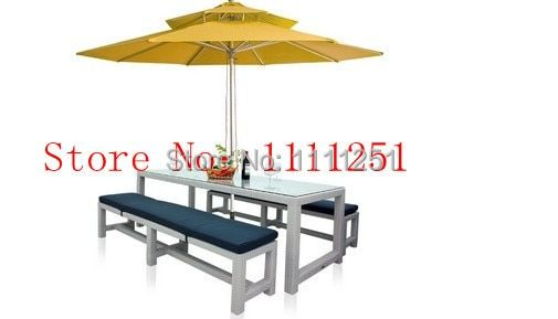 Outdoor Furniture Rattan Dining Table with Chairs