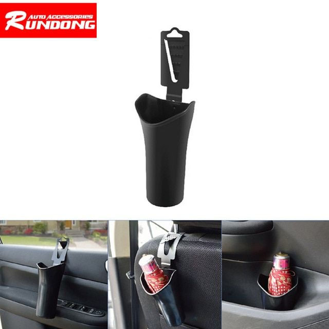 Car umbrella holder Car door storage box dashboard dustbin trash can Headrest knob installation umbrella holder Window install