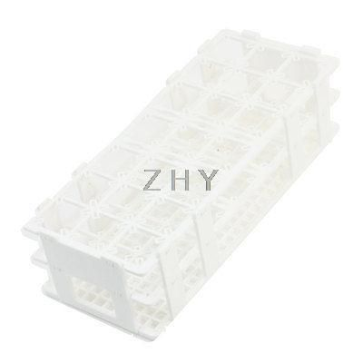 Lab White Plastic 21 Position 50mm Hole Test Tube Stand Rack