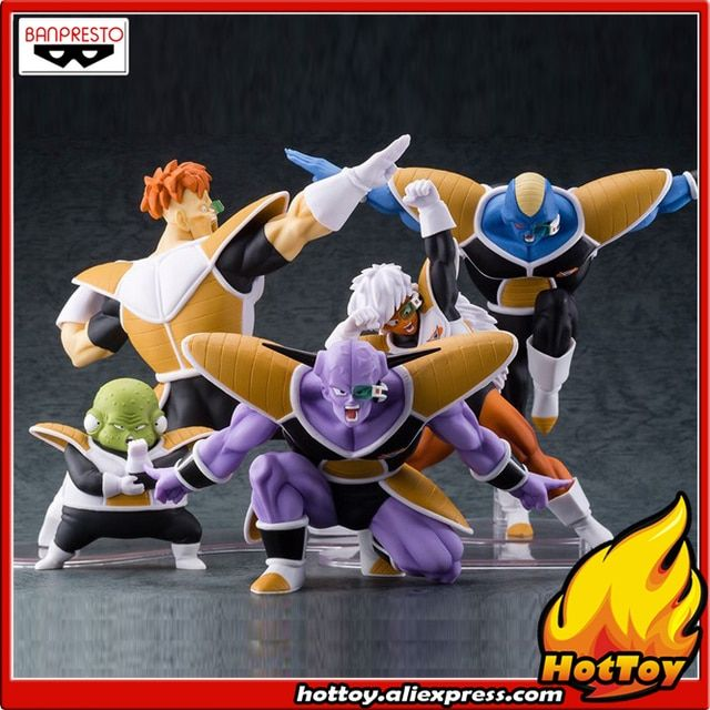 "100% Original Banpresto DRAMATIC SHOWCASE 2nd season Collection Figure - Ginyu & Burtta & Jees & Recoom & Ghourd ""Dragon Ball Z"""