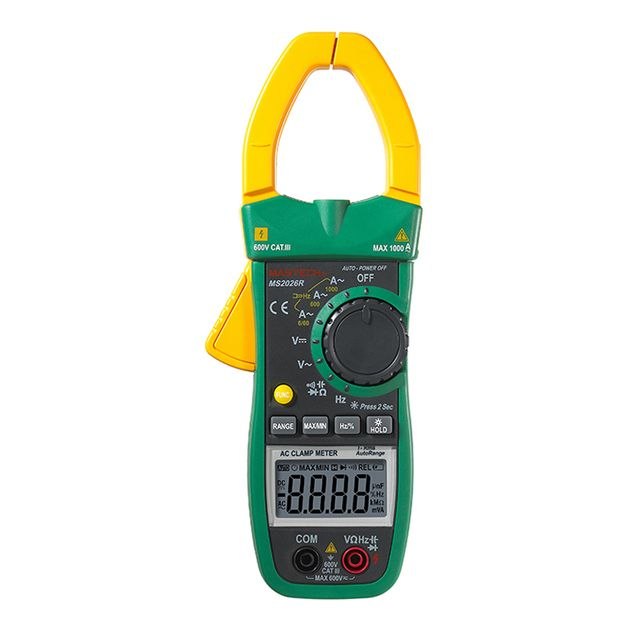 MS2026R Digital Clamp Meter AC/DC Voltmeter Resistance Frequency Detector Multimeter 1000A Range 6000 Counts Digital Clamp test