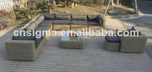 2017 Quality assured outdoor furniture rattan sofa germany