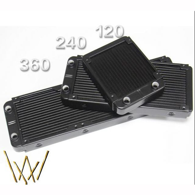 Aluminum Water Cooling 120 240 360 Radiator Liquid Cooler For 120mm Fan G1/4 heat exchanger cooled computer