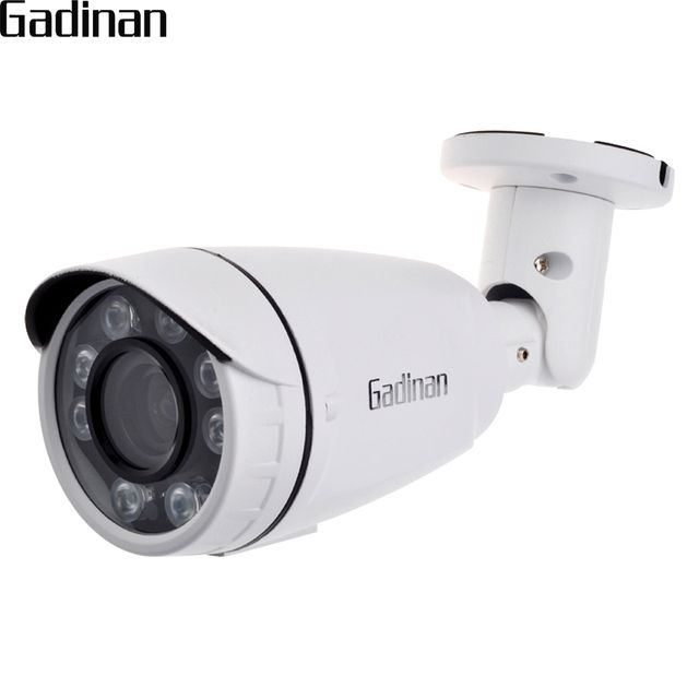 GADINAN  2.8-12mm Motorized Zoom Lens 960P 1080P(SONY IMX322) 4MP(H.265) Onvif Outdoor Bullet IP Camera 4X Auto Zoom XMEye