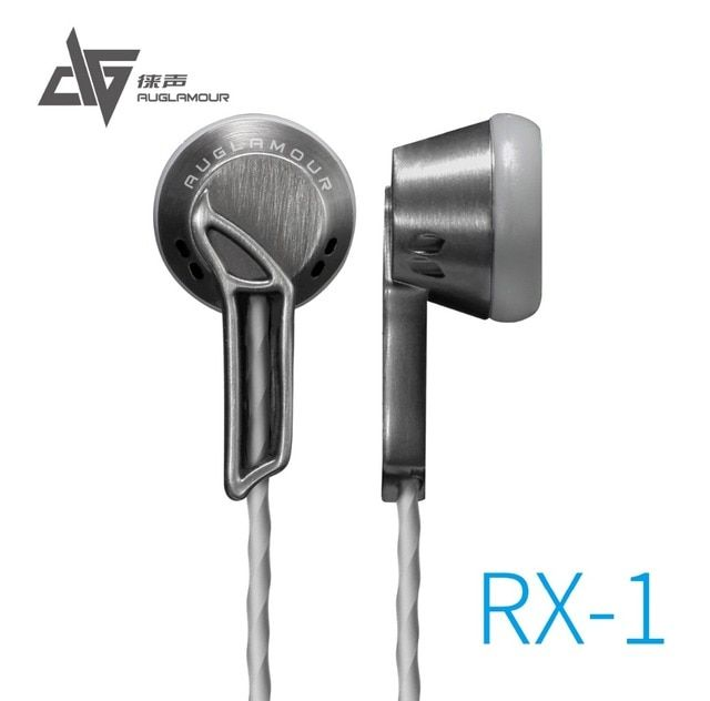 2016 Newest AUGLAMOUR RX-1 In Ear Earphone Flat Head Plug High Quality Full Metal Earbud Headset Free Shipping Support wholesale