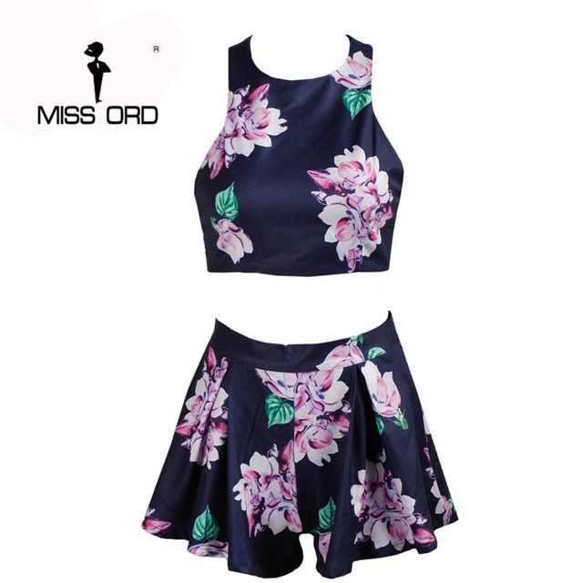 Free Shipping 2018  sexy flower Cross-piece halter printing two-pcs PLAYSUIT FT1917