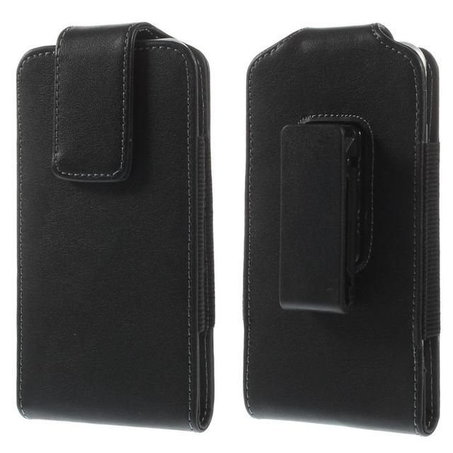 For iPhone 6 4.7inch Black Magnetic Leather Holster Pouch Case with Belt Clip for Samsung S4 / S3, Size: 14 x 7cm