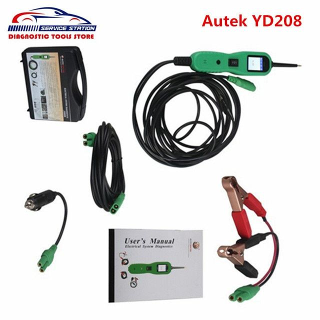 DHL Free Newest Autek PowerScan YD208 Electric Check Same as Autel PowerScan PS100 Circuit Tester High quality Power Scan YD 208