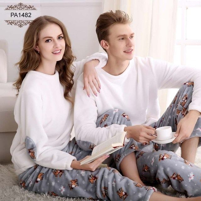 2016 Winter Pajamas For Couples Long Sleeve Flannel Pajama Sets Home Cloth Camisolas de dormir Casual Pajamas Amantes PA1482P