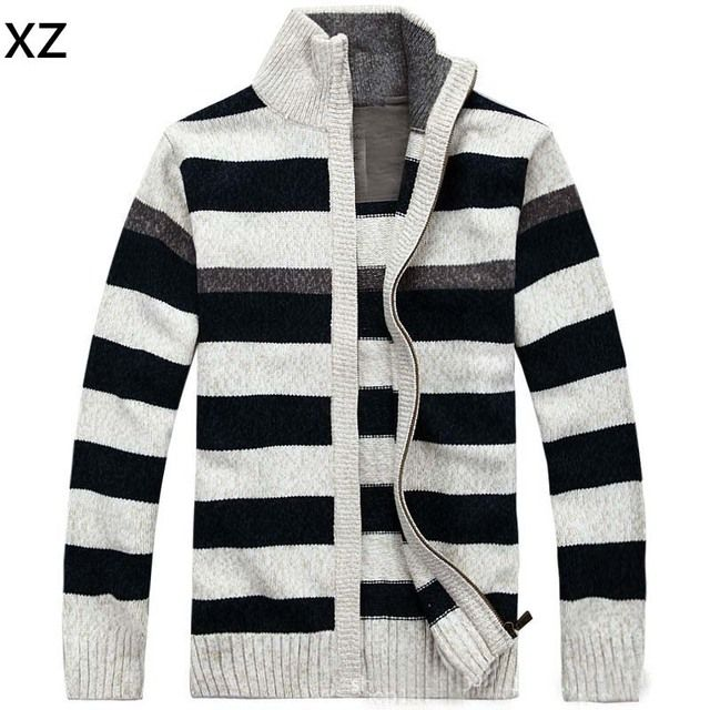 2016 NEW Brand Warm Thick mens Cardigans Sweaters Men Winter&spring Sweater Tops stand Collar Men slim Casual dress Knitwear 205