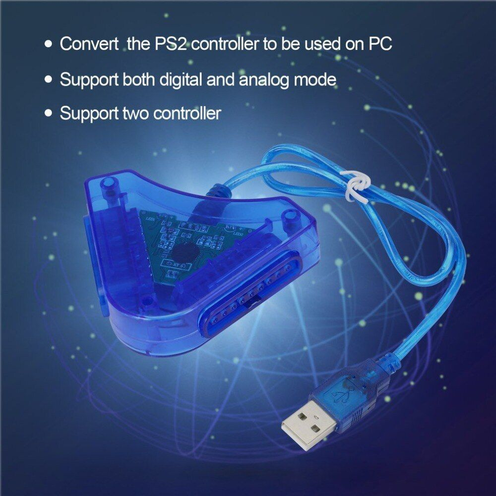 Joypad Game USB Dual Player Converter Adapter Cable For PS2 Attractive Dual for Playstation 2 PC USB Game Controller Wholesale