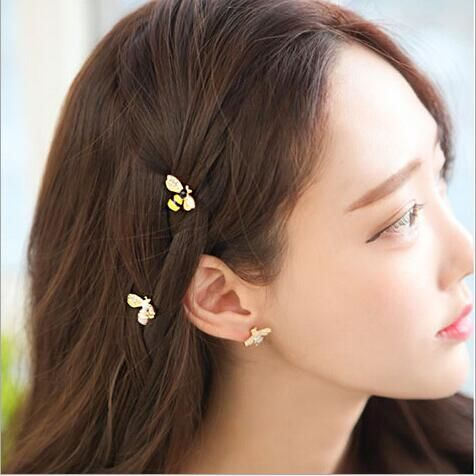 cuter bee korean women girl cute hair clip pin barrette style accessories for hair hairclip ornaments hairpin head decorations