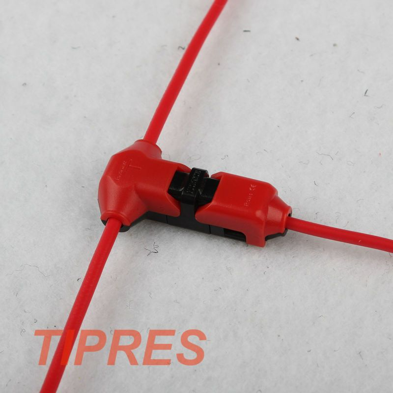 10pcs Scotch Lock no welding no screws Quick Connector cable clamp Terminal Block Car Audio 24-18AWG AC/DC 300V 10A Wire Set