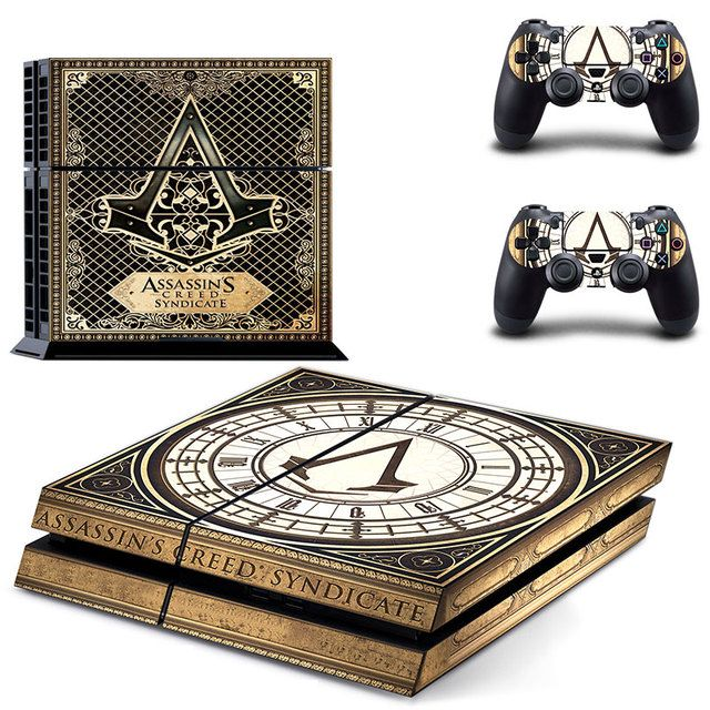 Assassins Creed Syndicate play 4 Skin 1Set Vinyl Decal Skin For play station 4 Console PS4+2Pcs Stickers For ps4 accessories