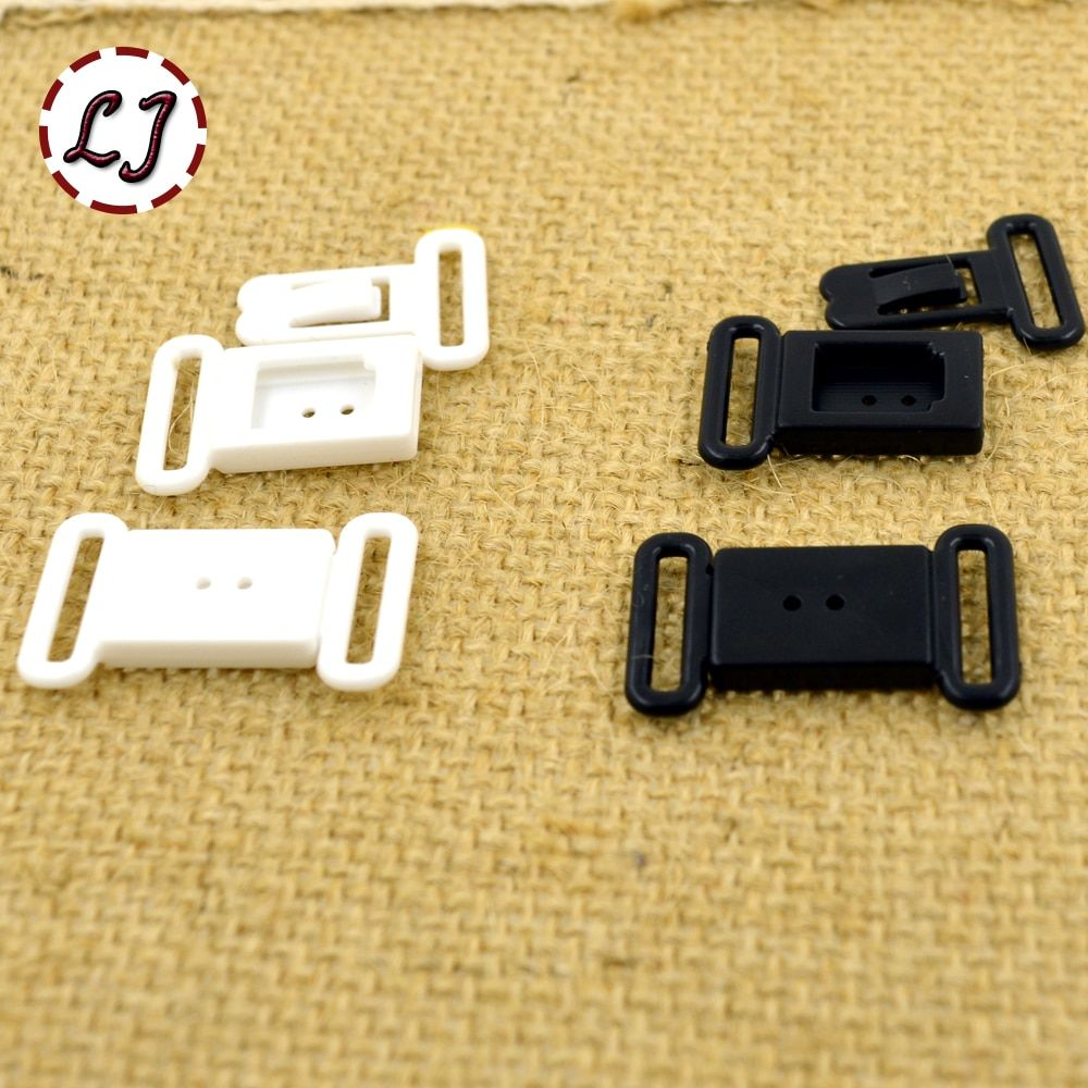 10pcs/lot small Craft Plastic White black Rectangle Tape Closure Hook & Clasp Waist Extenders Sewing On Clothes Bra Clip Hooks