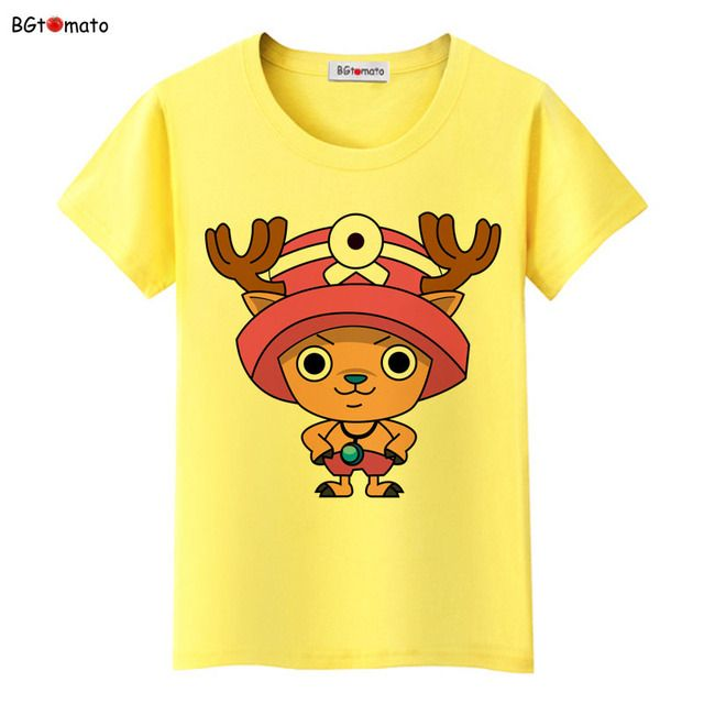 BGtomato famous cartoon One Piece shirts Women summer fashion cool t shirt Brand good quality breathable soft shirts