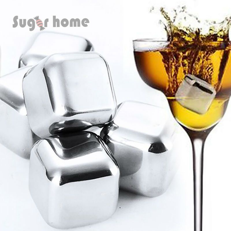 stainless steel ice cubes ice stone Cool Glacier Rock Neat Drink Freezer gel Wine Whiskey Stones Great Gift