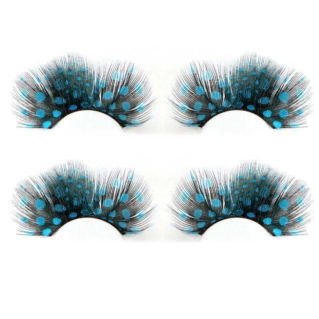 5 Pairs Feather Eyelashes Exaggeration Dance Masquerade/Party Natural Long False Eyelashes Makeup Extension Tools
