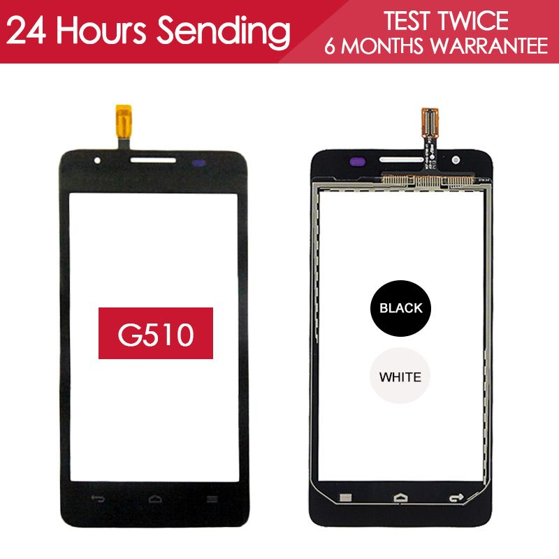 100% Tested 4.5 inch Touchscreen For Huawei G510 Touch Screen G520 G525 with Digitizer Glass Panel Replacement Parts U8951 T895