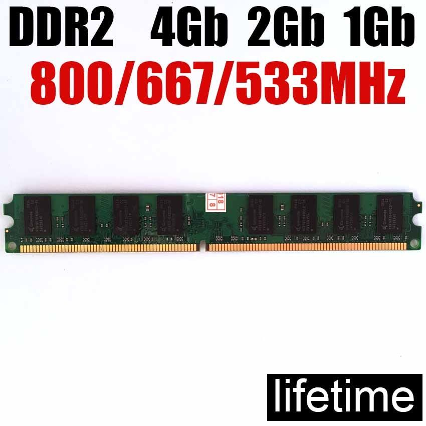 4Gb memoria ram ddr2 2Gb For Intel / for AMD DDR2 800 667 Mhz - 1Gb 2Gb 4Gb ddr2 RAM  -lifetime warranty- 800Mhz 667Mhz 533Mhz