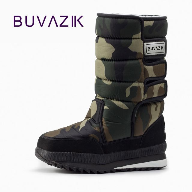 2017 winter warm men's thickening platforms waterproof shoes military desert male knee-high snow boots outdoor hunting botas 47