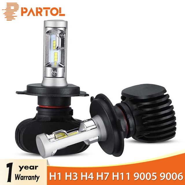 Partol Car H4 LED Headlight Bulbs 50W 8000LM H1 H7 LED 9005 9006 Auto LED H7 Headlamp CSP H11 LED Bulbs 6500K 12V 24V Car Lights