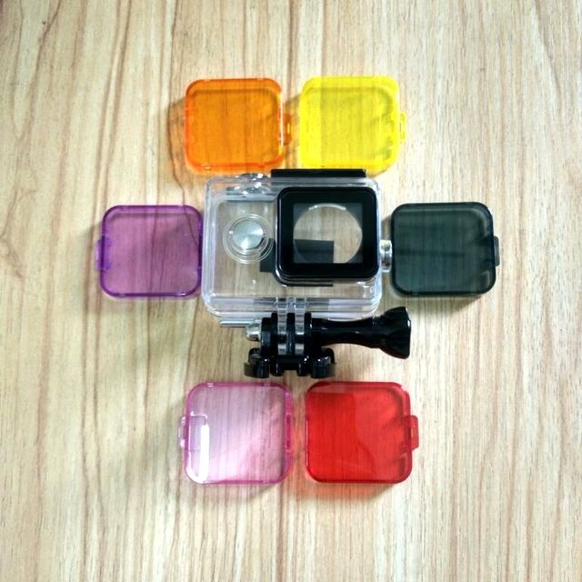 NEW Clownfish Diving UV Filter Waterproof Case Cover Lens Cap UV Underwater for Xiaomi yi 1 or GoPro Hero 3+/4 Action Camera
