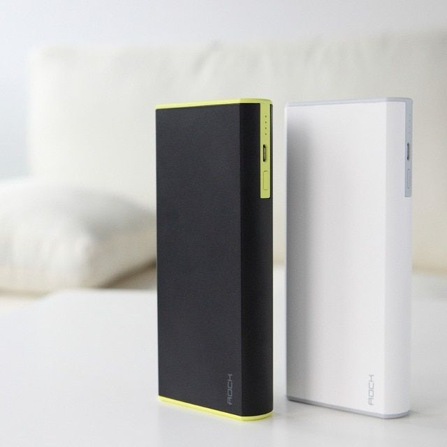 Power Bank ROCK With Dual USB Output Interface Efficiency Quick Charging For iOS devices Android devices