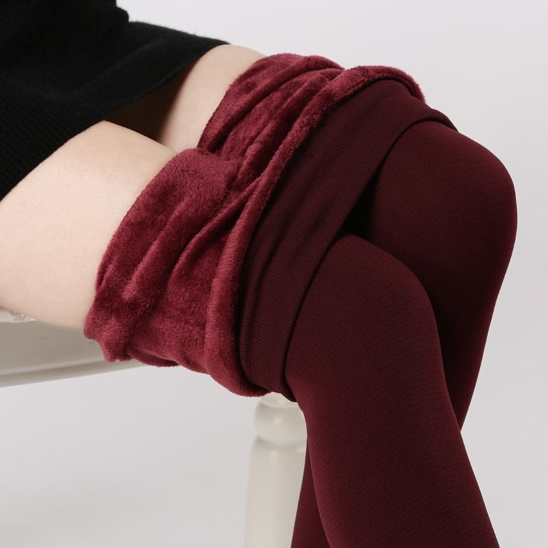S-3XL High Elastic Waist Winter Plus Velvet Thicken Women's Leggings Warm Pants Good Quality Cashmere Thick Trousers Female