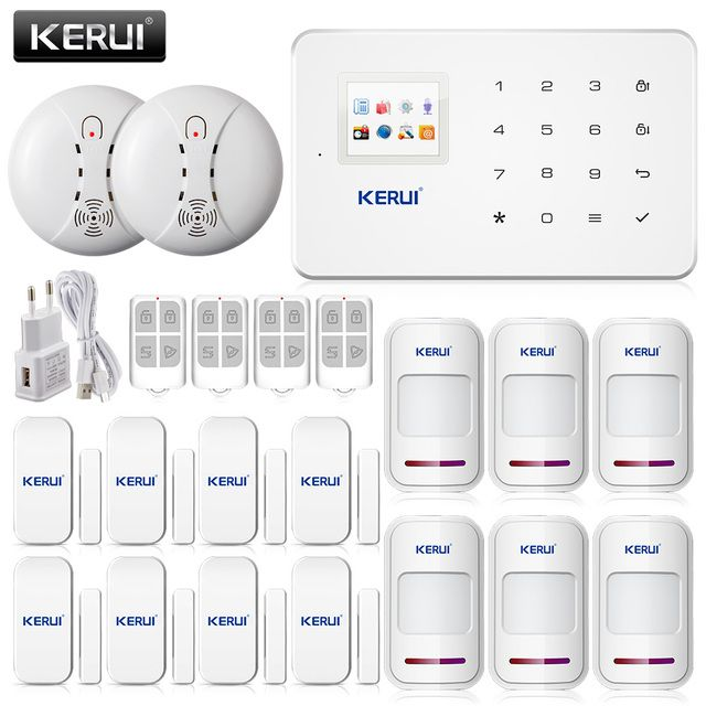 Wireless GSM Alarm System Home Security Alarm Systems LCD Keyboard Sensor Alarmes