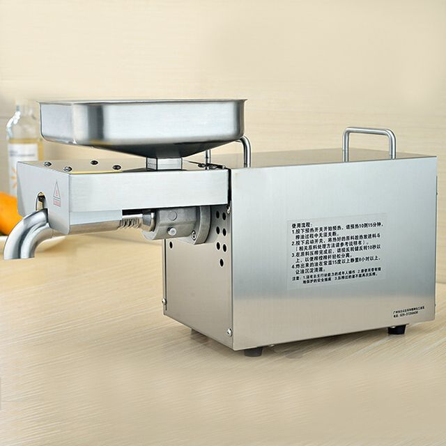 VOSOCO Oil Presser Stainless steel automatic cold press oil machine 780W 220V electric oil presser sunflower seeds oil extractor