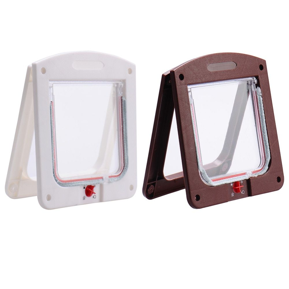 Lockable Cat Flap Door Kitten Dog Pet Lock Suitable for Any Wall or Door Free 1pcs Pet supplies