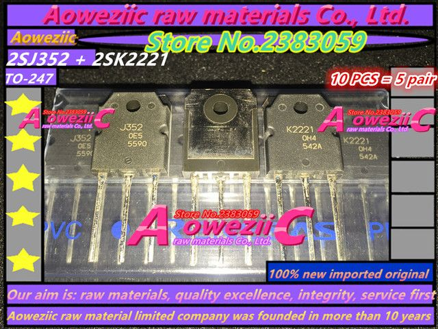Aoweziic 100% new imported original 2SJ352  2SK2221  J352  K2221 TO-247  inlet P+N channel matched MOS FET in  (1 sets)