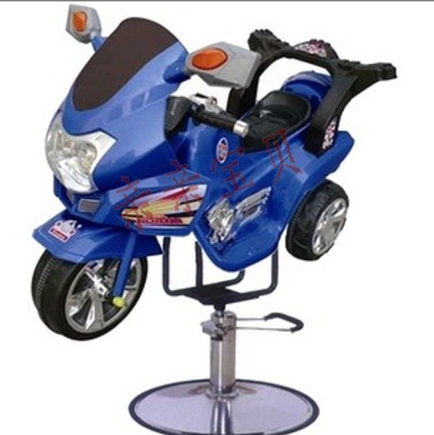 Children barber shop barber chair. Motorcycle barber chair