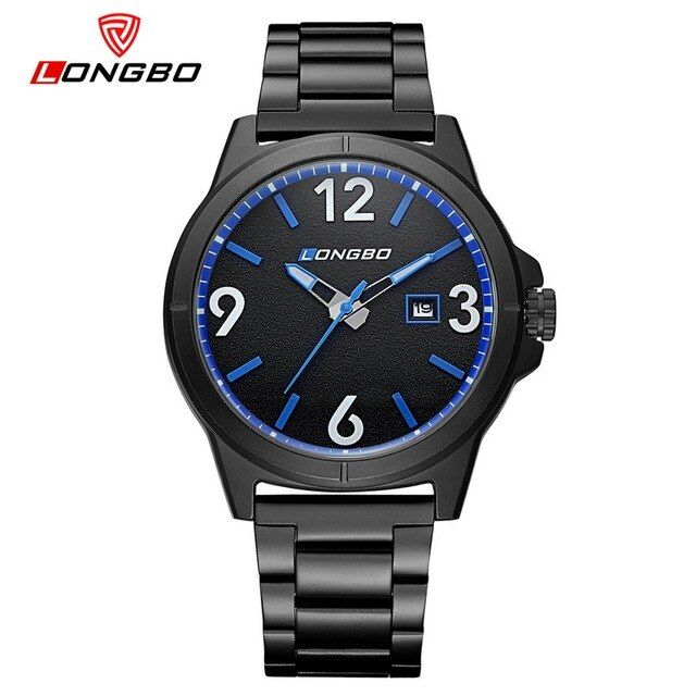 Brand LONGBO Sport Men Watch Fashion Waterproof Calendar Male's Quartz Watches Stainless Steel Wrist Watch 3003 Boyfriend's Gift
