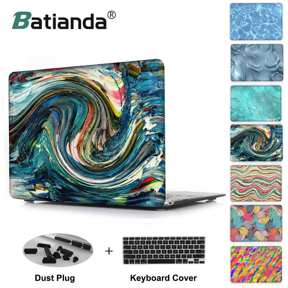 New Water ripples Unique pattern print Case for MacBook Air 13 Air 11 12 Hard Cover for Macbook Pro Retina 13 15 Case