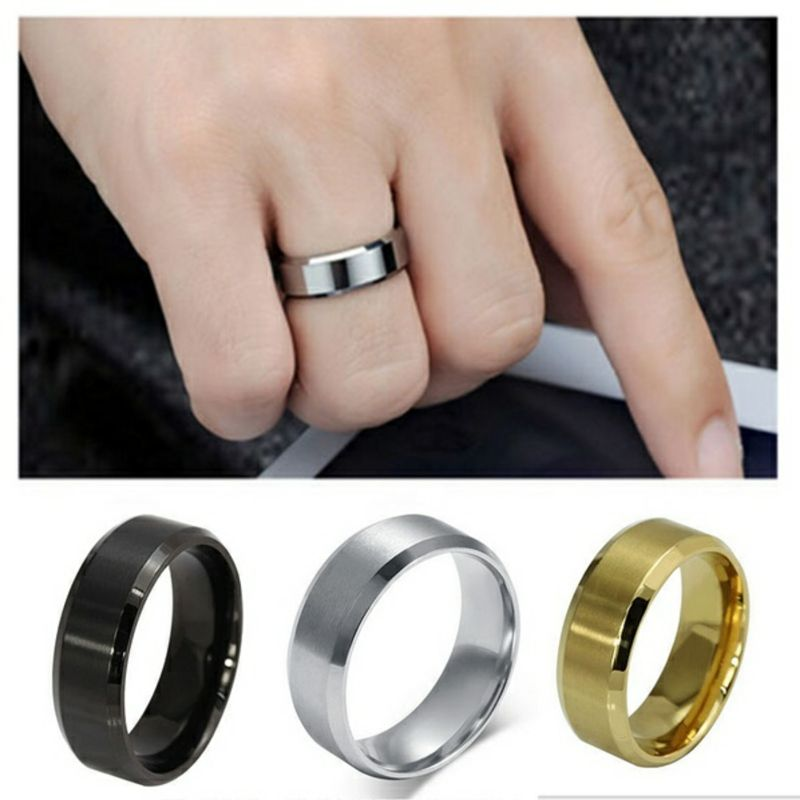 New stainless steel men ring 6mm fashion rings for women men jewelry Buy Wholesale Cheap Rings from China boy gifts
