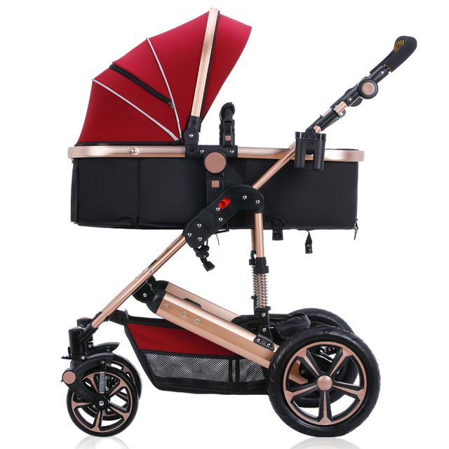 2016 Luxury baby stroller , six colour four wheels single seat,  fashion style , foldable stroller,stroller carry bag,