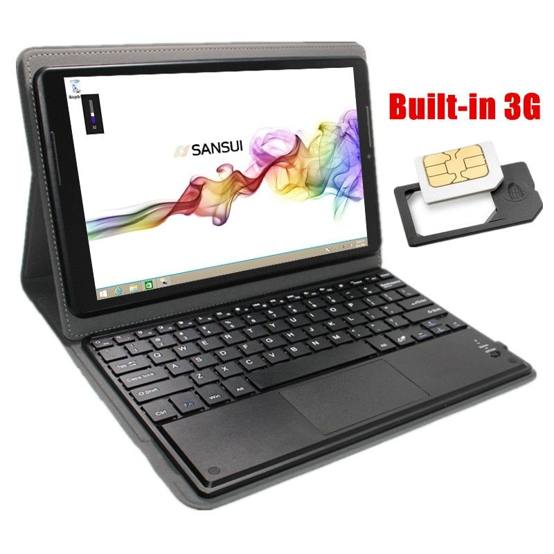 "3G WCDMA Tablet 10.1"" Windows 8.1 Tablet PC 1GB/16GB Wifi HDMI OTG laptop 1280*800 IPS Quad Core Gift bluetooth keyboard case"