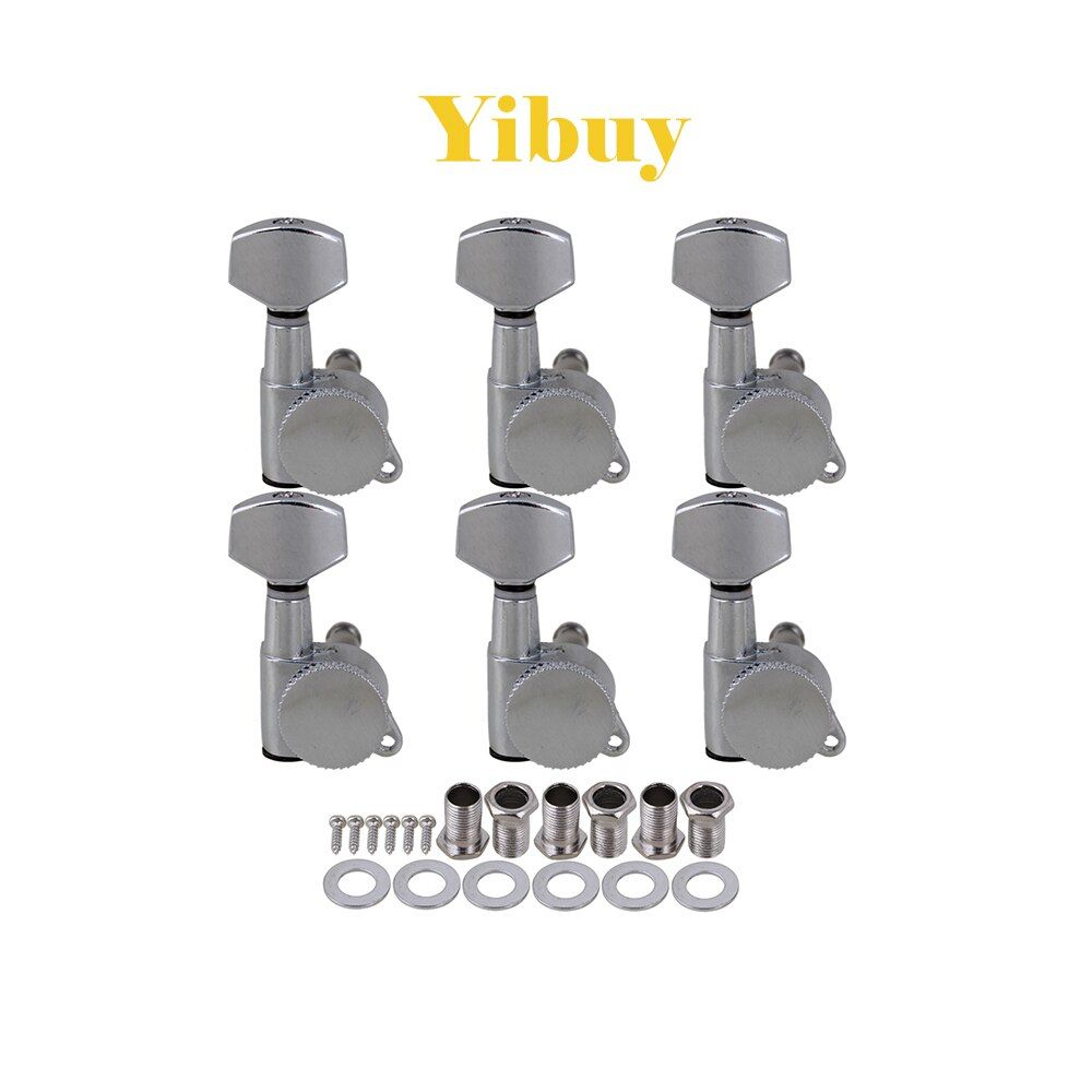 Yibuy chrome Auto lock Electric Acoustic Guitar Machine Heads 6R