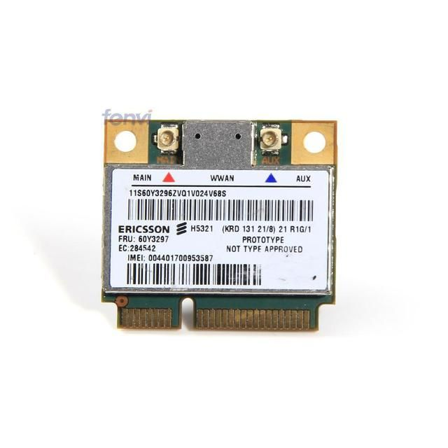 Ericsson H5321GW Mini PCI-E Wireless 3G WWAN Card HSPA Module FRU 60Y3297 for IBM Thinkpad x1 Carbon X230 T430 S430 T530 W530